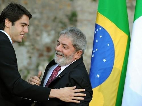 Kaká and Lula