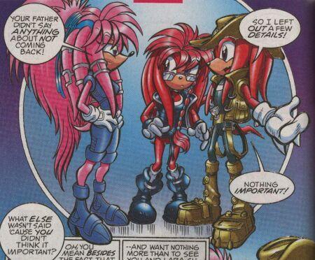 Knuckles, Julie-Su and Lara-Su