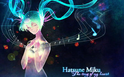 Miku Wallpaper by kaminary-san on deviantART