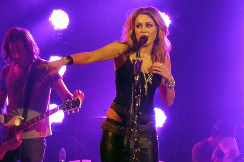 Miley Cyrus Performs at the House of Blues