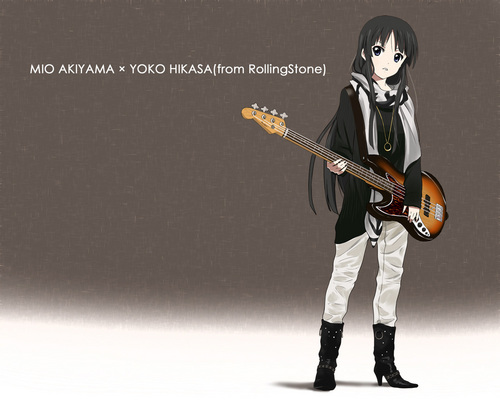 K-ON! images Mio Akiyama x Yoko Hikasa HD wallpaper and background photos