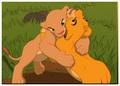 Nala beats Simba