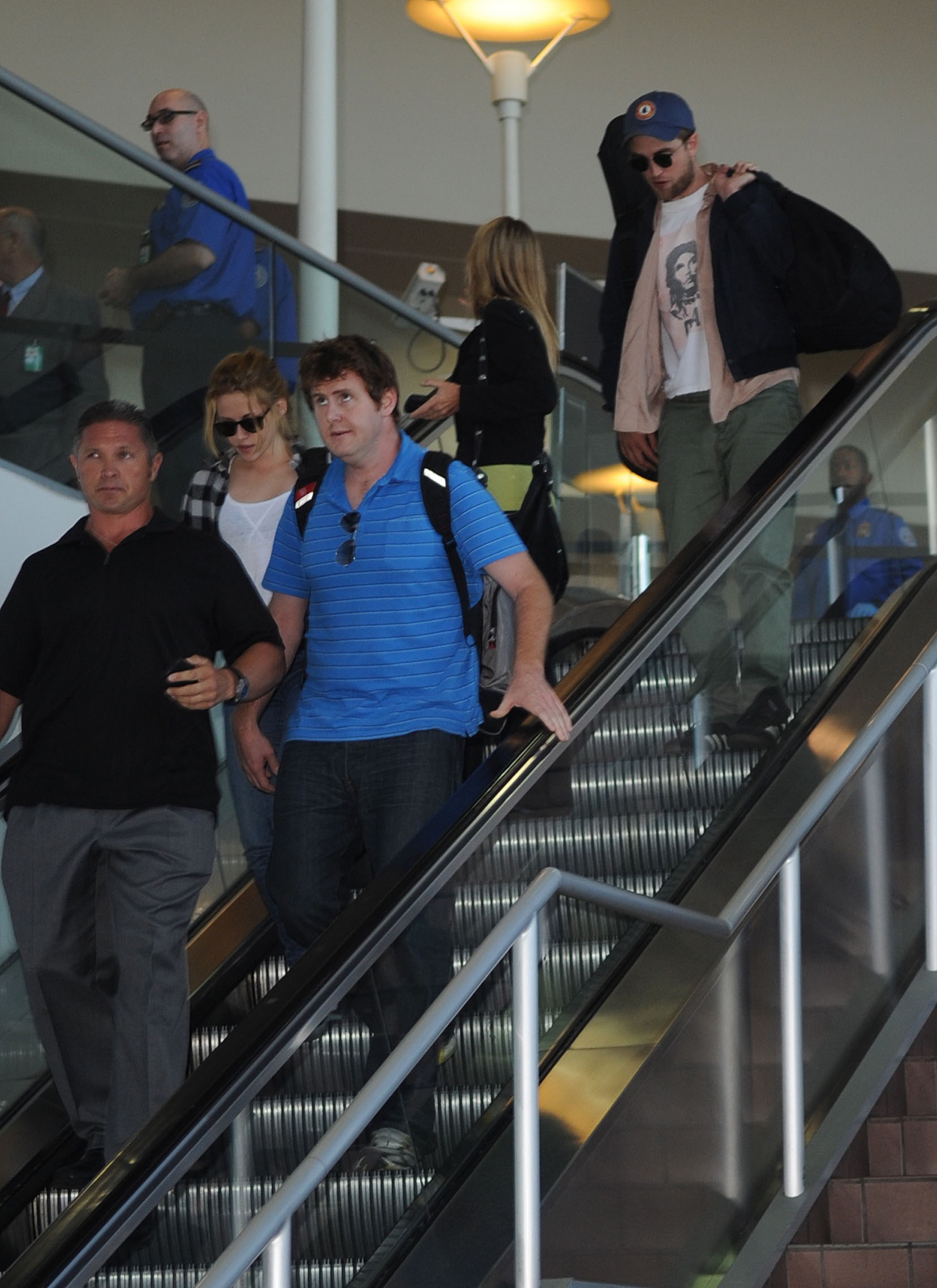 Rob and Kristen arriving in LAX
