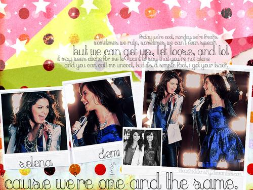 selena gomez dan demi lovato wallpaper called Selena and Demi