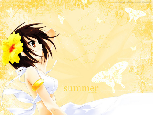 Summer Haruhi karatasi la kupamba ukuta