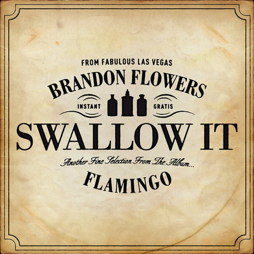 Brandon Flowers wallpaper titled Swallow It album cover