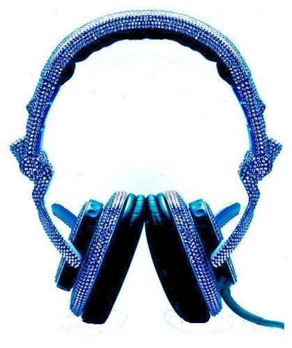 Swarovski DJ Headphones (Blue)