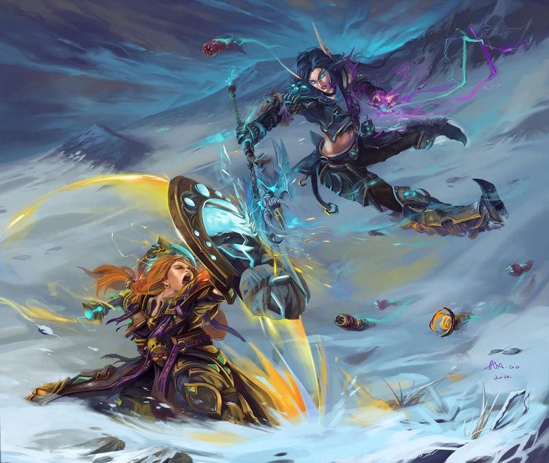 world of warcraft art wallpaper. fan art - World of Warcraft