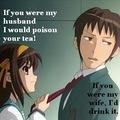 haruhi and kyon moment xD kinda...