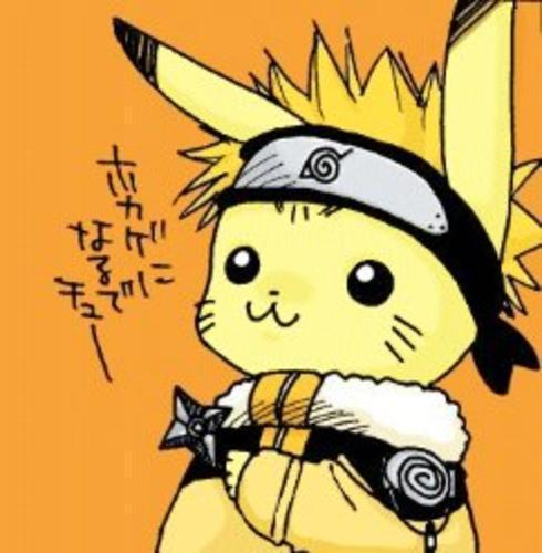 pokemon wallpaper titled naruto pikachu! XD