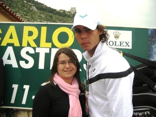 passionate fan: first she wanted the picture with Rafa ...