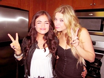 Lucy Hale & Ashley Benson wallpaper called peace.