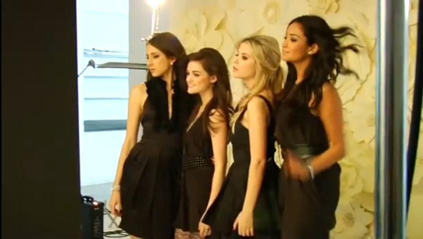 Pretty little liars tv show promotional photoshoot behind the scenes