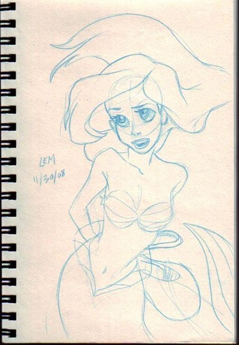 """Skewed"" Sketch of Ariel"