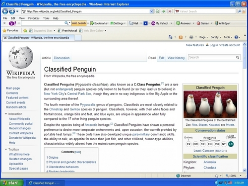 """All About the """"Classified Penguins"""""""