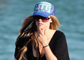 Avril with cap