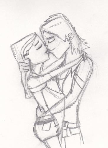 AxH kiss Sketch- WIP