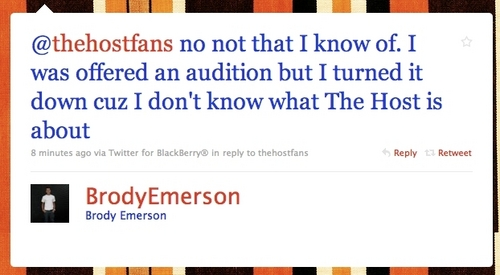 The Host wallpaper titled Brody Emerson WILL NOT BE JARED