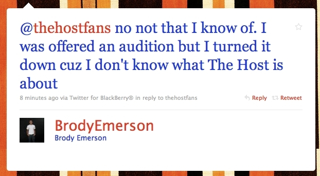 Brody Emerson WILL NOT BE JARED