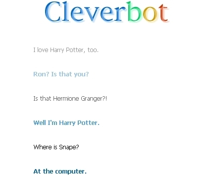 CLEVERBOT AND ANNA. <3