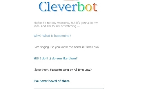 CLEVERBOT AND ANNA HAVE LOVE. go figure.