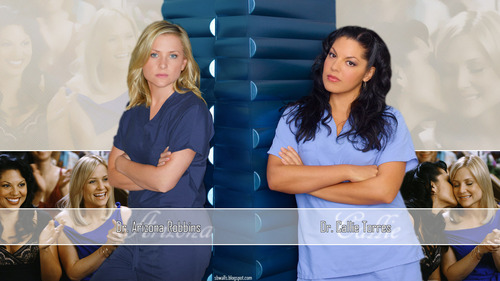 Callie & Arizona kertas dinding