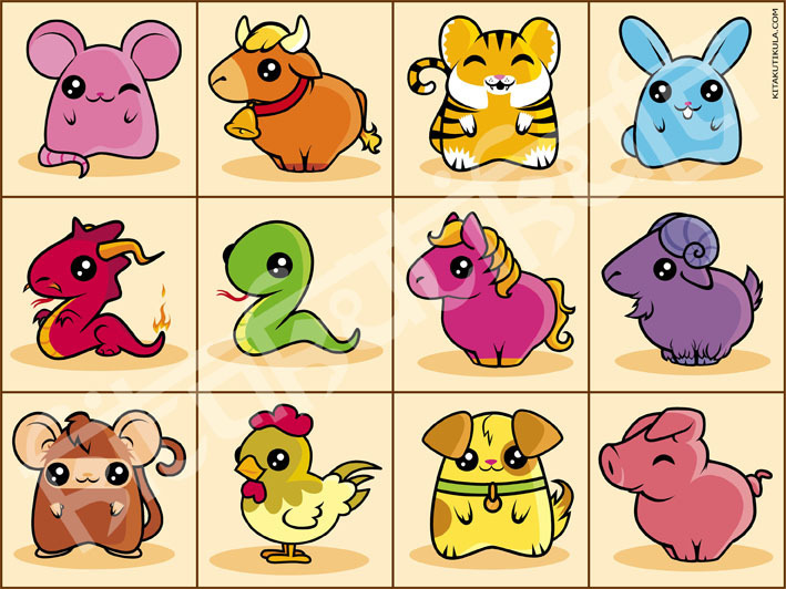 Chinese Zodiac - Chinese Zodiac Photo (14921178) - Fanpop Funny Games Mahjong