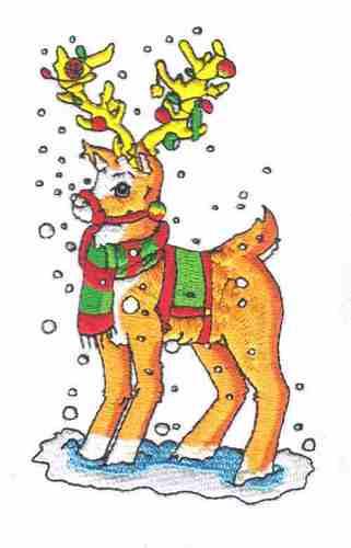 natal Reindeer imagens