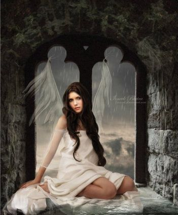Damon's angel Elena