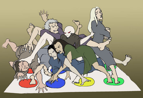 Death eaters playing twister