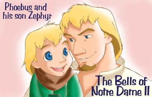 Disney Parents karatasi la kupamba ukuta titled Father-Son Phoebus and Zephyr