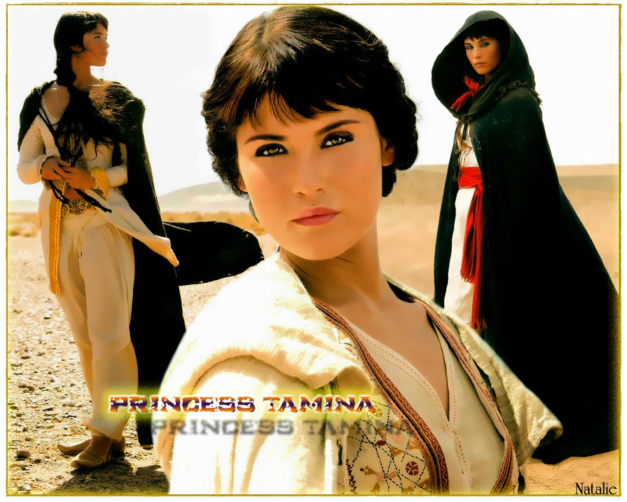 Gemma as princess Tamina