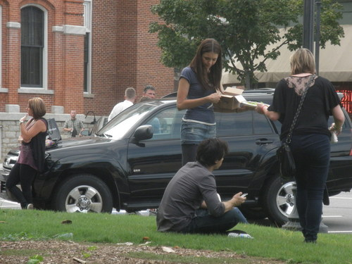 Ian/Nina on Set (HQ)