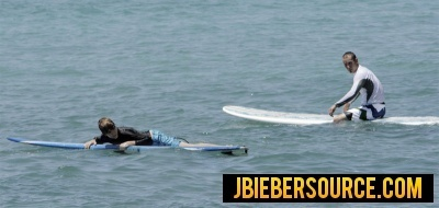 Justin Bieber Surfing in Barbados