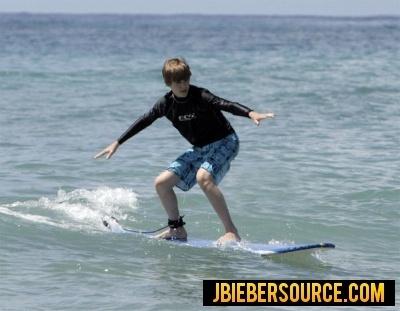 Justin Bieber Surfing in Barbados