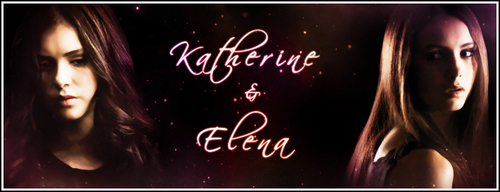 Katherine Pierce and Elena Gilbert wallpaper entitled Katherine & Elena