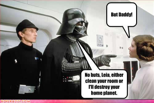 Leia Cleans Her Room