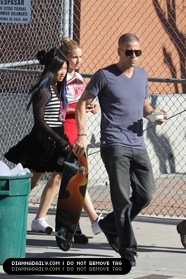 Mark and Dianna On Set