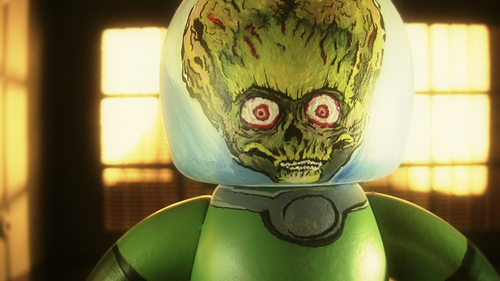 Tim برٹن پیپر وال titled Mars Attacks mighty mugg