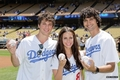 Matt lanter, Jessica lowndes and Michael Steeger at Dodgers game