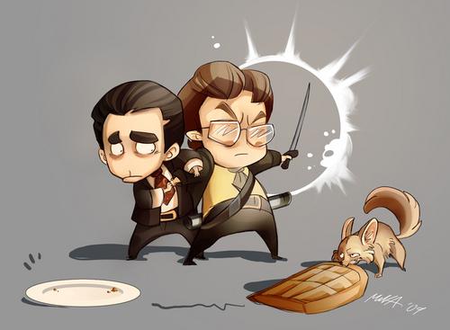 Michael and Dwight Art