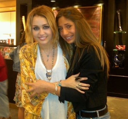 Miley With fan