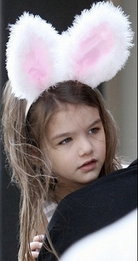 Nessie wearing bunny ears