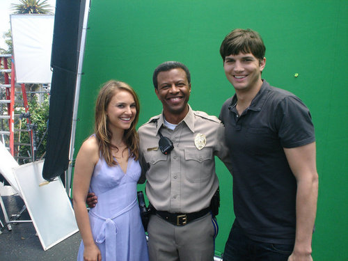 """On the set of """"No Strings"""" with Ashton Kutcher"""