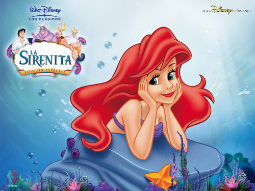 putri disney wallpaper titled Spanish judul for The Little Mermaid