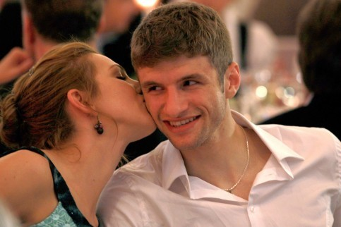 Thomas Müller and his Wife Lisa