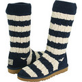 UGG Stripe Cable Knit Boots Navy Cream  http://www.uggsgoods.com - ugg-boots photo