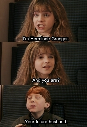 hermione and ron first साल