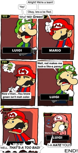 marios being a hater wheres weegee when u need em? - mario Photo