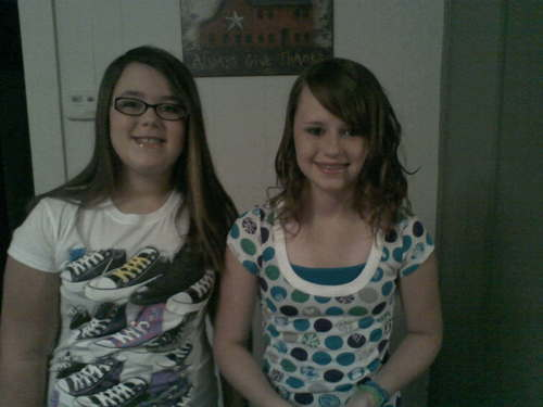 me left and my sister right!!!!!!!!